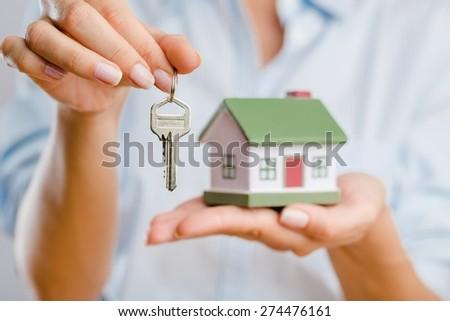 Home, buy, sale. - stock photo