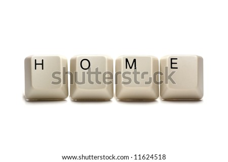 Home - Computer keys, isolated on white