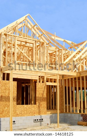 home construction - stock photo