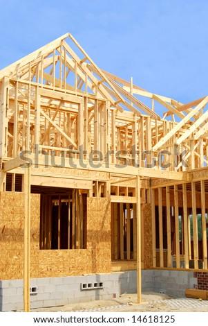 home construction - stock photo