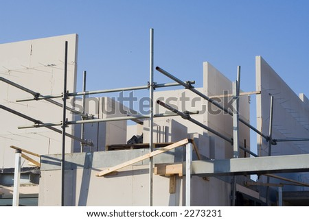 Home construction site. - stock photo