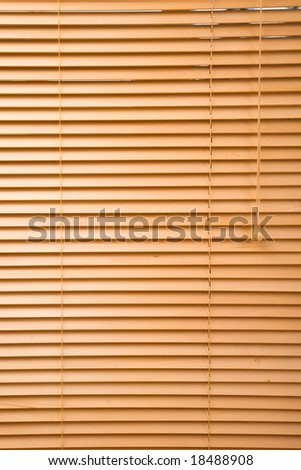 home decoration concept with wood jalousie close up - stock photo