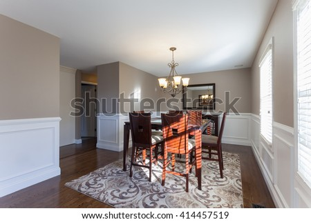 Home Dining Room Interior - stock photo
