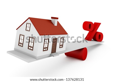 Home Finance on the white background - stock photo