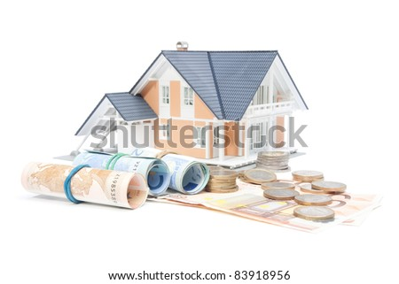 Home finances, building savings and realty financing (investments) concept.