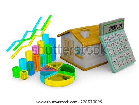 Home Finances Concept - 3D - stock photo