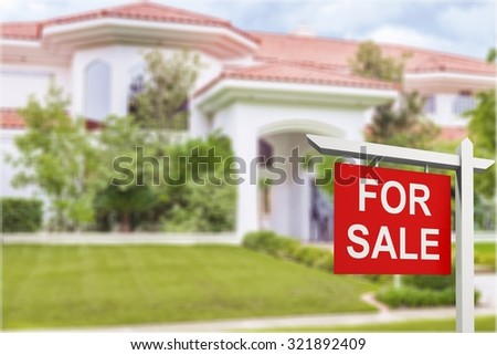 Home for sale. - stock photo