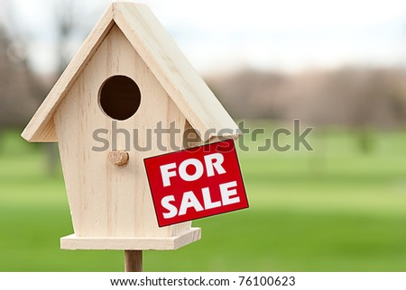 Home for sale - stock photo