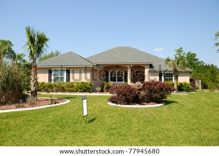 home for sale at St. Augustine Florida usa - stock photo