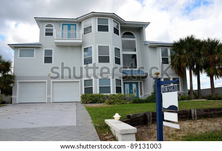 home for sale on the east coast of florida usa - stock photo