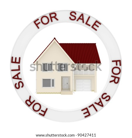 Home for sale real estate sign - stock photo