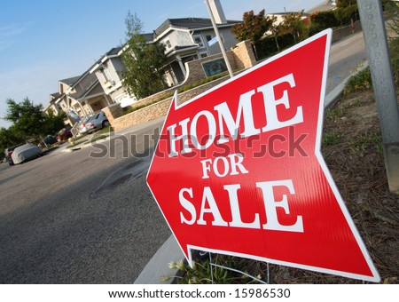 Home For Sale Sign - stock photo