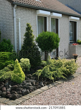 home gardens in the Netherlands, - stock photo