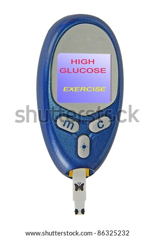 Home glucose meter with a message - stock photo