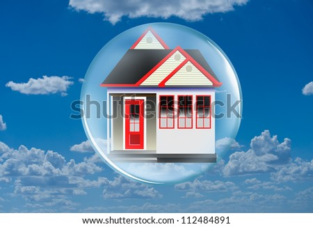 Home in a Bubble. - stock photo