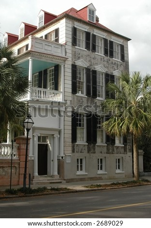 Home in Charleston, South Carolina historic district - stock photo