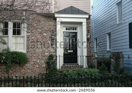 Home in Charleston, South Carolina historic district - stock photo
