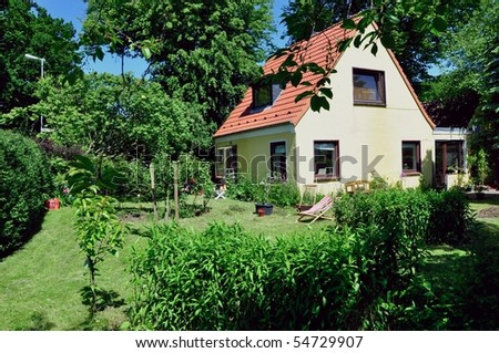 home in the green - stock photo