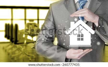 Home insurance concept. - stock photo