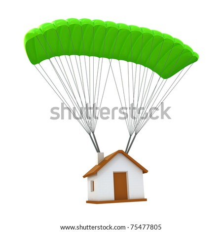 Home insurance concept isolated on white - stock photo