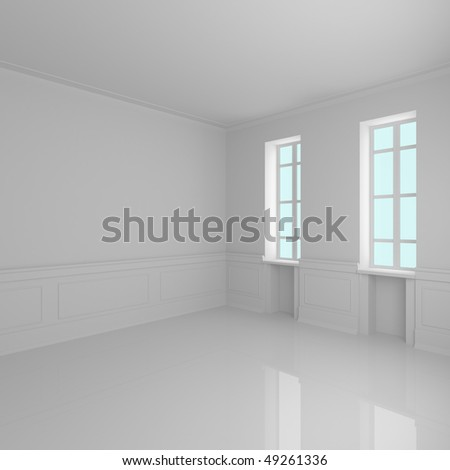 Home interior 3D rendering - 3d illustration