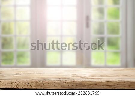 home interior of window  - stock photo