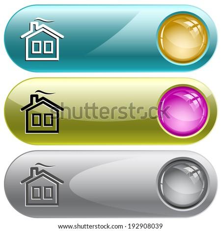 Home. Internet buttons. Raster illustration.  - stock photo