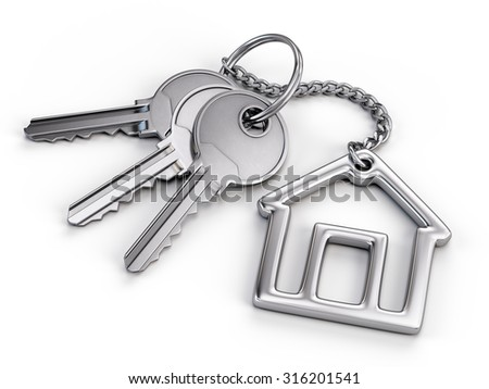 Home key - stock photo