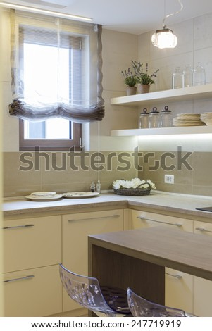 Home kitchen corner - stock photo