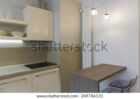 Home kitchen design - stock photo