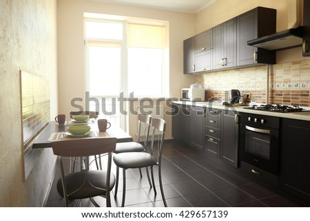 Home kitchen interior