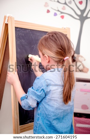home learning teaching - stock photo