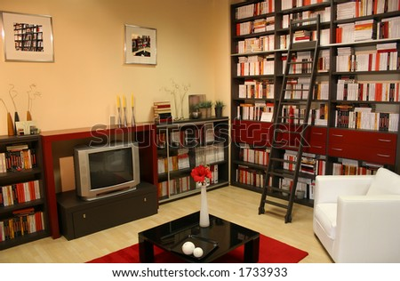 home library - stock photo
