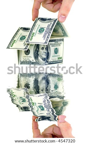 HOME LOAN water reflection - stock photo