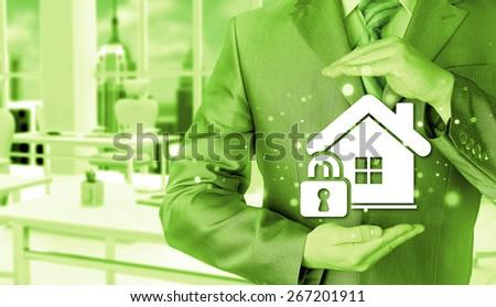 home lock concept. - stock photo