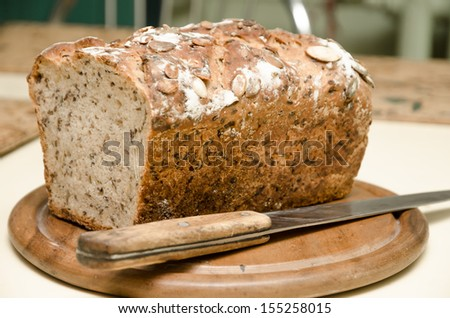 home-made bread - stock photo