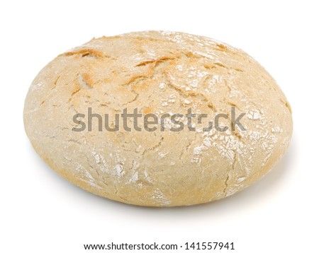 Home-made bread isolated on white background with clipping path