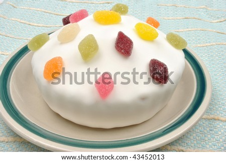 home made cake and a white background
