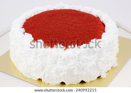 Home made cake ( Red velvet cake ) - stock photo