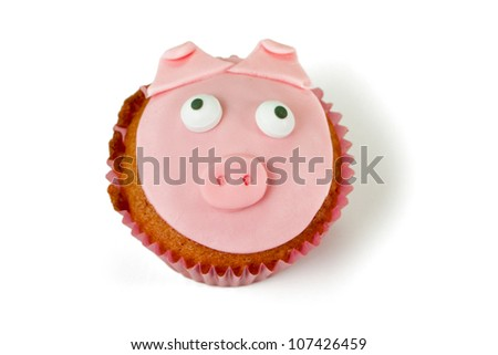 Home made cupcakes in delicious colors - stock photo
