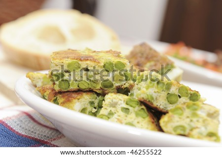 Home made italian cuisine served in a farm holidays - stock photo
