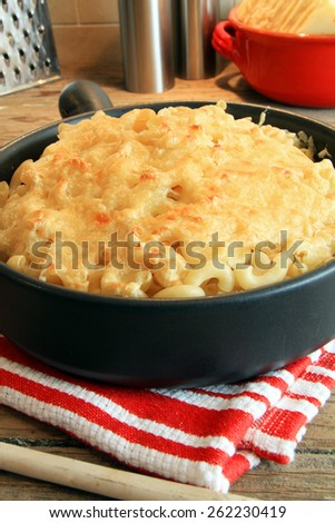 Home made macaroni and cheese.  - stock photo