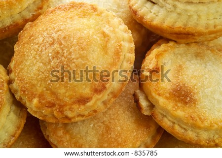 Home-made pies with sugar - stock photo