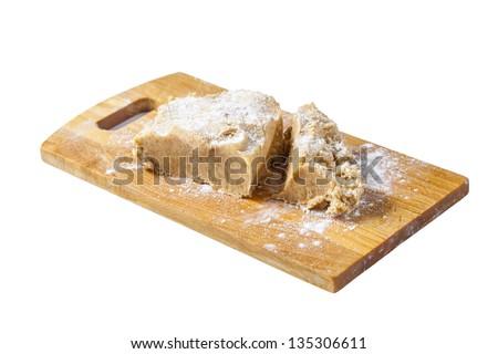 home made raw christmas cookie dough - stock photo