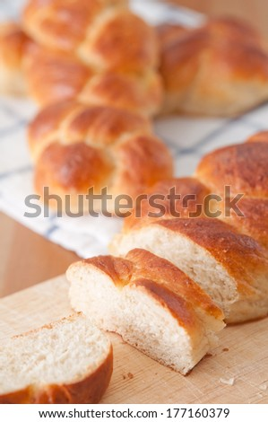 Home made sweet braided bread