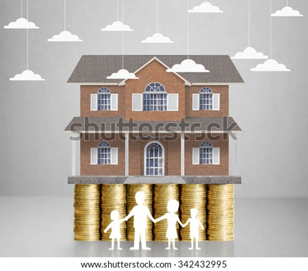 home model on a coins ,Loan concept