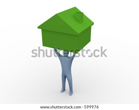 Home mover - stock photo