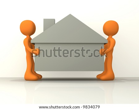 Home Movers - stock photo