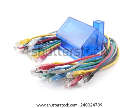 Home Network. Clipping path included. - stock photo