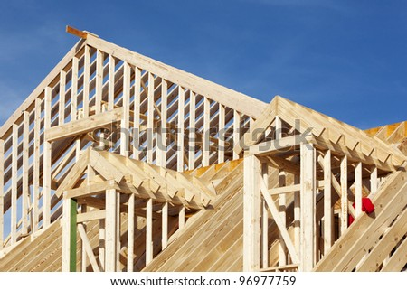 home new construction - stock photo